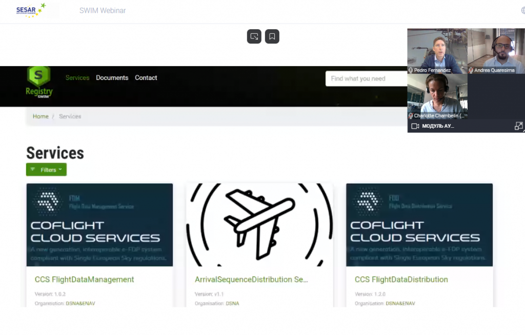 первый вебинар серии вебинаров SWIM , организованный SESAR и EUROCONTROL при поддержке A6