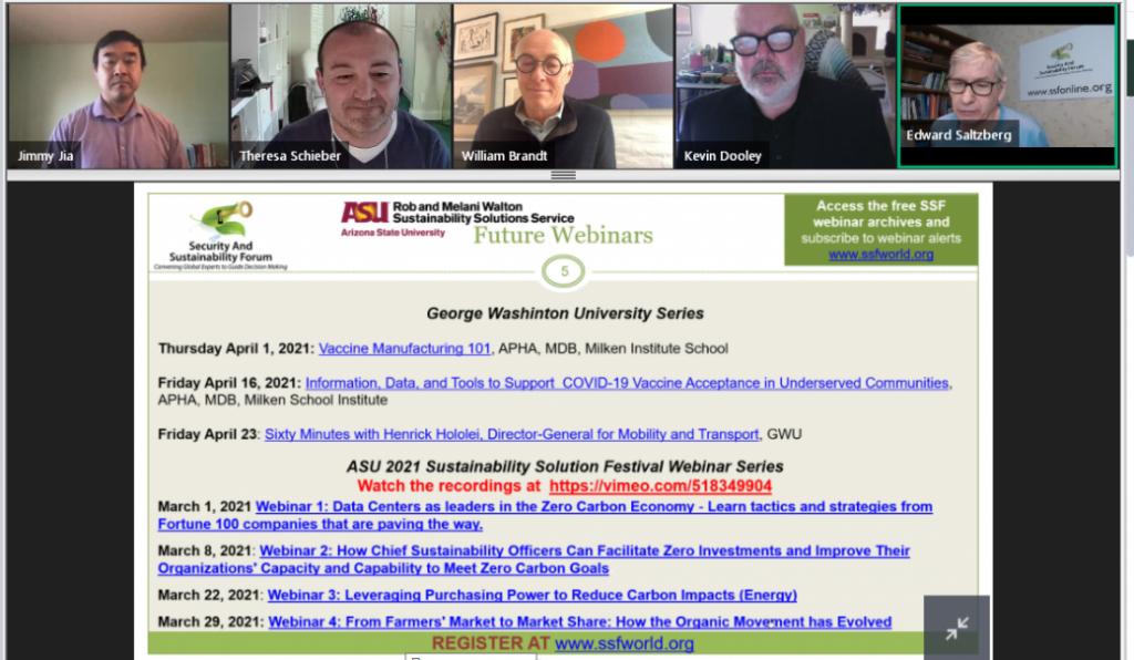 Вебинар «зелёные закупки», организованный George Washington University (США)